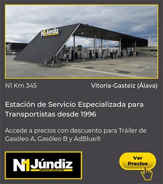 Estación de Servicio para Tráiler y Camión en la N1 en Vitoria-Gasteiz