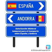 Autorización bilateral Andorra transporte de mercancías