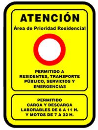 Autorizaciones zonas APR Madrid