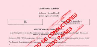 Certificado de conductor extranjero
