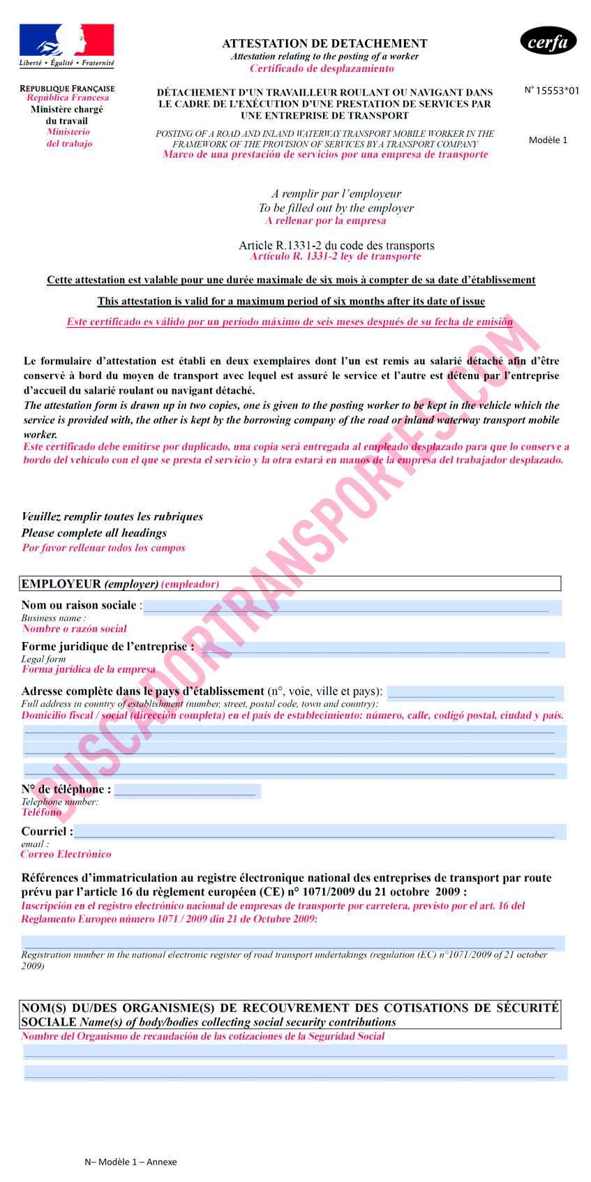 salario mínimo francés ley macron Traducción documento de desplazamiento página 1