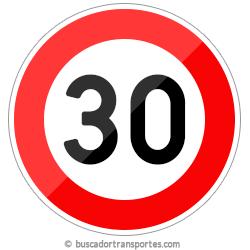 Multas velocidad y pérdida de puntos por superar el límite de 30 Km.