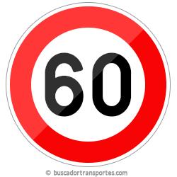 Multas velocidad y pérdida de puntos por superar el límite de 60 Km.