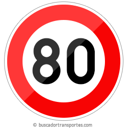 Multas velocidad y pérdida de puntos por superar el límite de 80 Km.