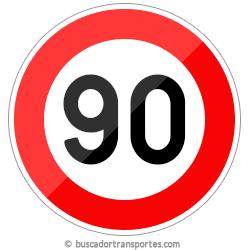 Multas velocidad y pérdida de puntos por superar el límite de 90 Km.