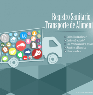 Registro sanitario transporte de alimentos