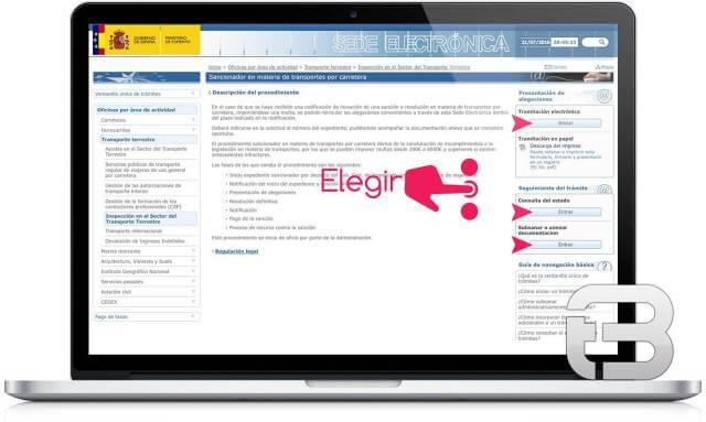 Requerimientos electrónicos relativos a un procedimiento sancionador