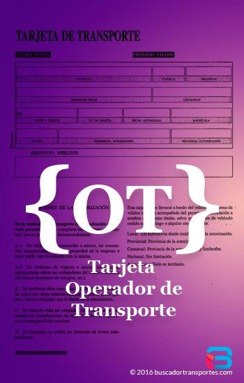 Requisitos tarjeta de operador de transporte