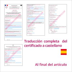 Salario mínimo francés traducción a español del documento de desplazamiento