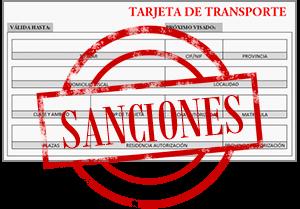 Sanciones y multas tarjeta de transporte