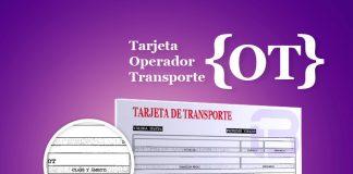 Tarjeta de operador de transporte