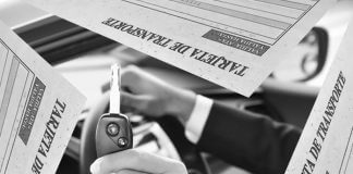 Tarjeta transporte vehículo alquiler