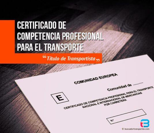 Título de transportista - Competencia profesional