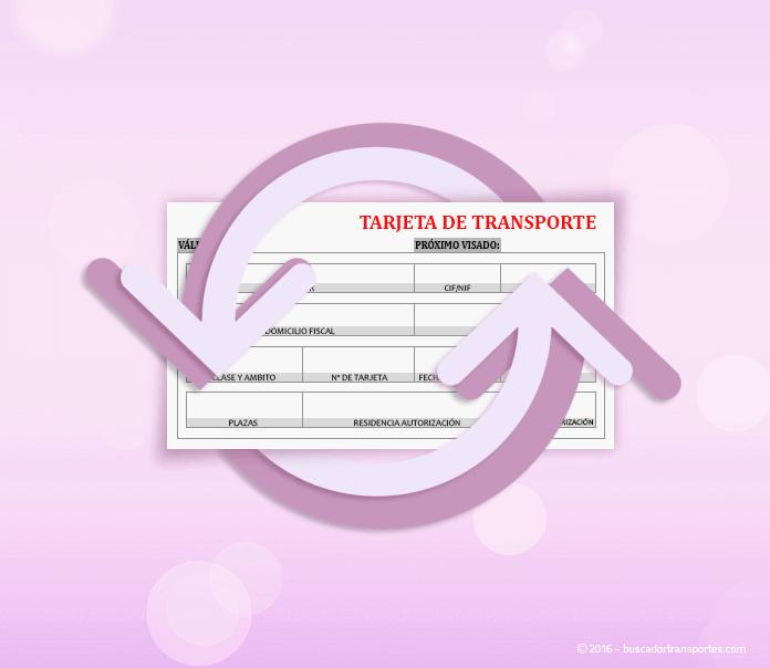 Transmisión de tarjetas de transporte