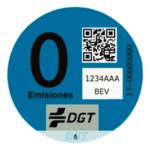Etiqueta cero emisiones DGT