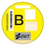 Etiqueta B DGT